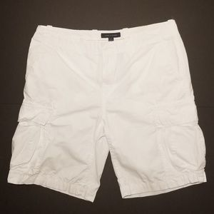 Tommy Hilfiger Bright White Mens Cargo Shorts 36